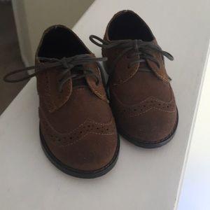 Janie and Jack size 5 leather boys dress shoes